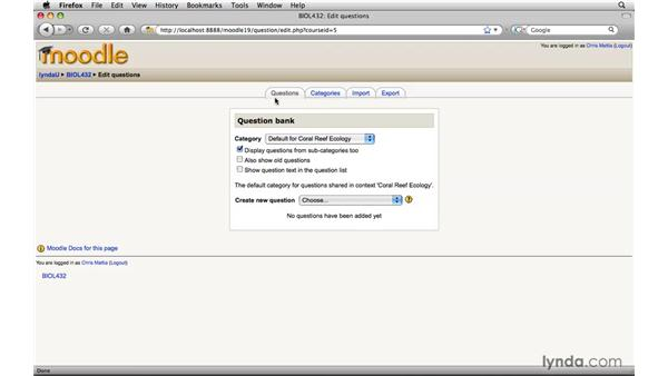 : Moodle 1.9 Essential Training for Teachers