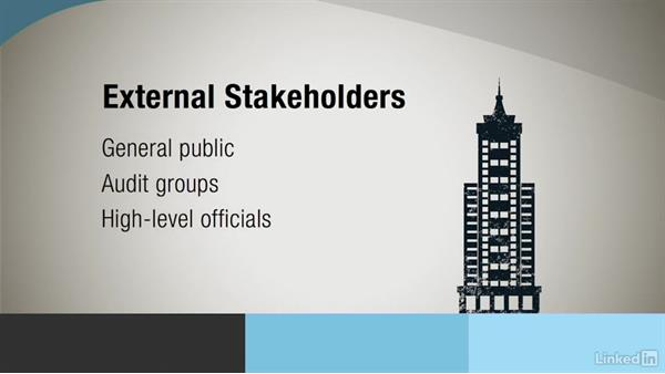 Identify key stakeholders: Government Project Management