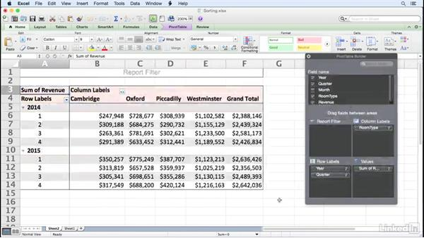 Welcome: Excel for Mac 2011: Pivot Tables in Depth