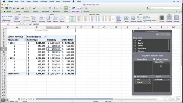 Introducing PivotTables: Excel for Mac 2011: Pivot Tables in Depth