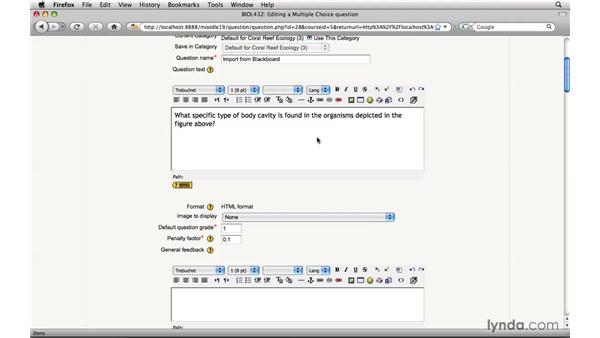 Importing question pools from Blackboard: Moodle 1.9 Essential Training for Teachers