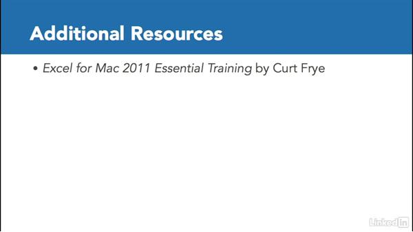 Next steps: Excel for Mac 2011: Pivot Tables in Depth