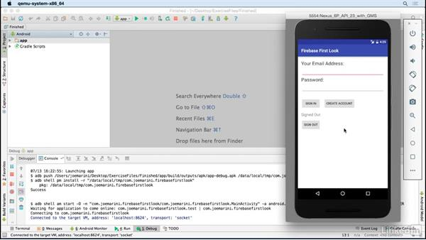 Overview of the sample project: Google Firebase for Android: First Look