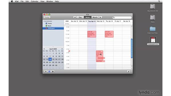 Exporting a calendar to iCal: Moodle 1.9 Essential Training for Teachers