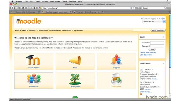 Additional resources: Moodle 1.9 Essential Training for Teachers