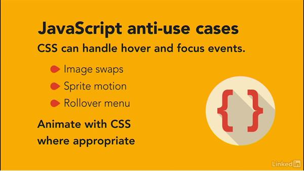 Anti-use Cases: JavaScript for Web Designers