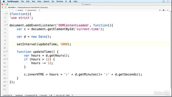 Use timers to update the page: JavaScript for Web Designers