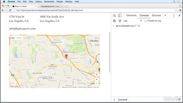 Solution: Modify the map: JavaScript for Web Designers