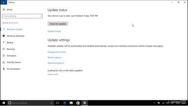 Active hours for automatic updates: Windows 10 Anniversary Update New Features