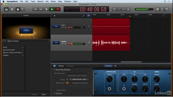 Record your podcast: Podcasting with GarageBand