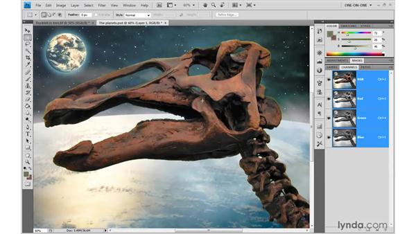 Testing the quality of edges: Photoshop CS4 One-on-One: Mastery