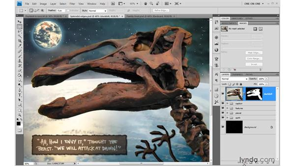 Adding a Gradient Overlay shadow: Photoshop CS4 One-on-One: Mastery