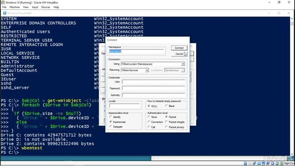 Using WMI to enumerate Windows
