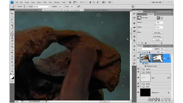 Using live Density and Feather: Photoshop CS4 One-on-One: Mastery
