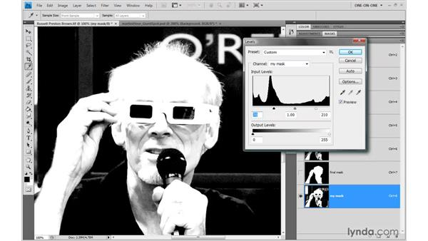 Increasing contrast: Photoshop CS4 One-on-One: Mastery
