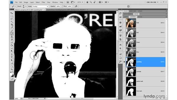 Overlay painting: Photoshop CS4 One-on-One: Mastery