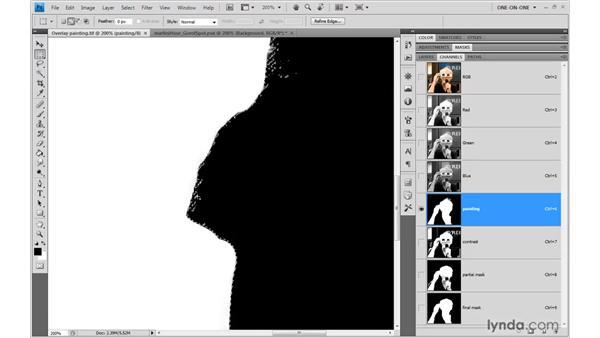 Cleaning up whites and blacks: Photoshop CS4 One-on-One: Mastery