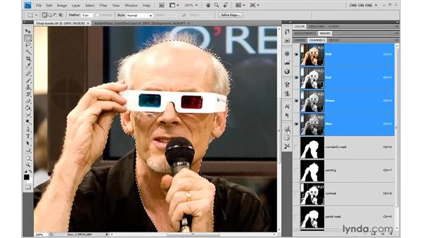 Employing masks as selections: Photoshop CS4 One-on-One: Mastery