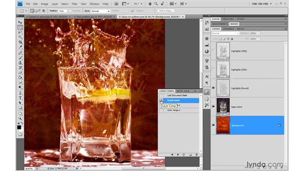 Compositing glass: Photoshop CS4 One-on-One: Mastery