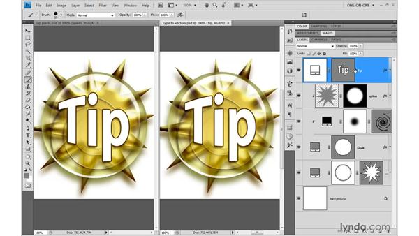 The benefits of vectors: Photoshop CS4 One-on-One: Mastery