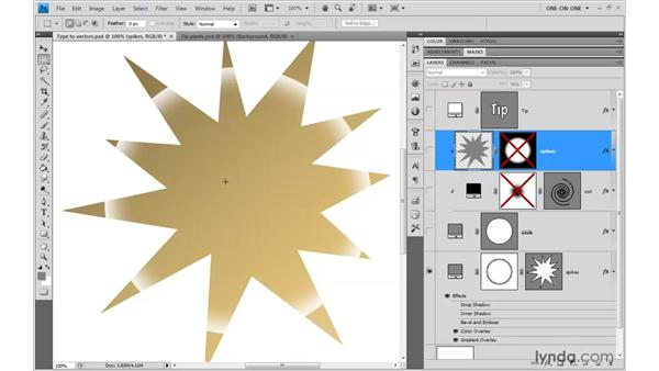 Vectors and effects: Photoshop CS4 One-on-One: Mastery