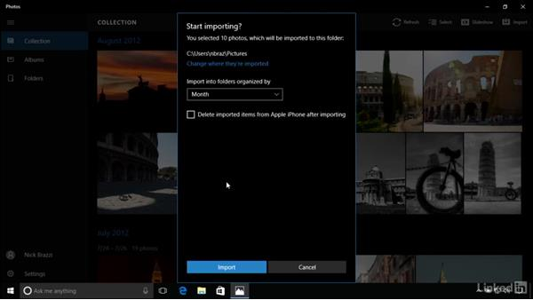 Browsing and editing photos: Windows 10 Anniversary Update Essential Training