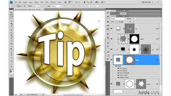 Fill Opacity and clipped layers: Photoshop CS4 One-on-One: Mastery