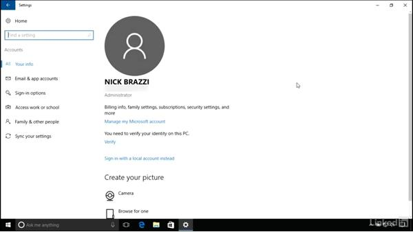 Sleep and screen saver: Windows 10 Anniversary Update Essential Training