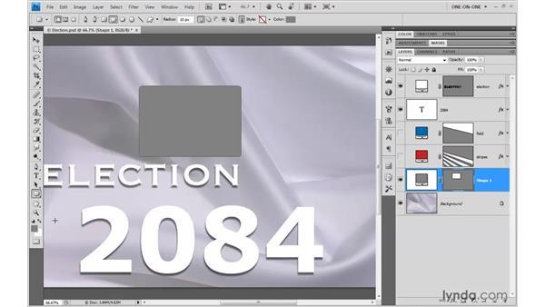 Basic shape creation: Photoshop CS4 One-on-One: Mastery