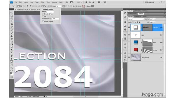Drawing interacting shapes: Photoshop CS4 One-on-One: Mastery