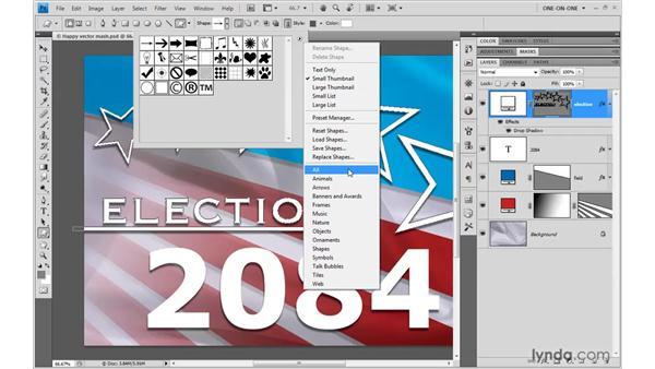 Drawing custom shapes: Photoshop CS4 One-on-One: Mastery