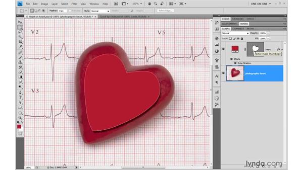 Assigning a vector mask to an image: Photoshop CS4 One-on-One: Mastery