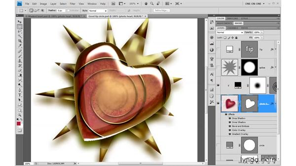Adding a vector object to a composition: Photoshop CS4 One-on-One: Mastery