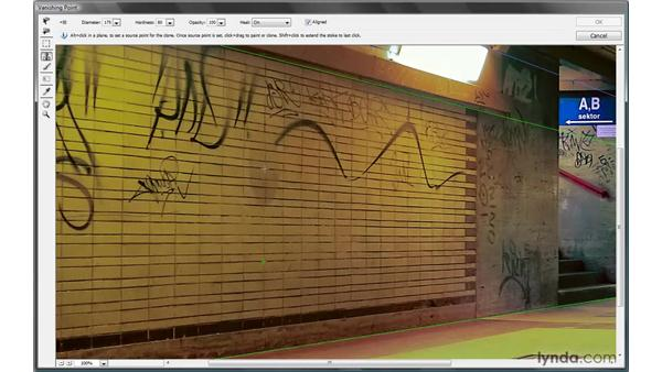 Healing in perspective: Photoshop CS4 One-on-One: Mastery