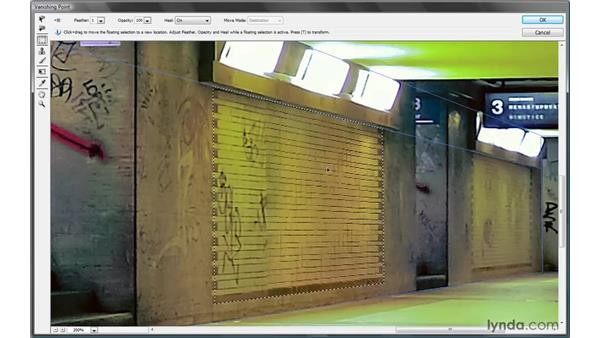 Cloning and scaling in perspective: Photoshop CS4 One-on-One: Mastery