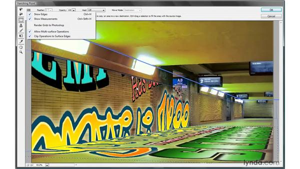 Importing an image into a 3D scene: Photoshop CS4 One-on-One: Mastery