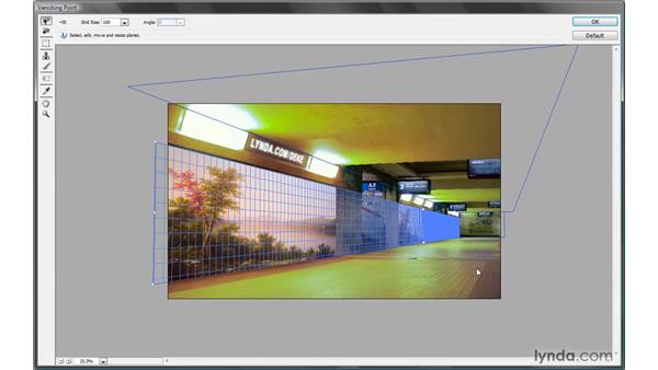 Applying a reflection in perspective: Photoshop CS4 One-on-One: Mastery