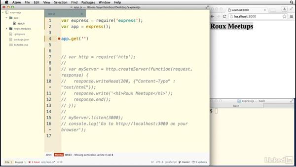 Handling HTTP requests with Express: Building a Website with Node.js and Express.js