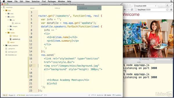 Creating a public folder: Building a Website with Node.js and Express.js