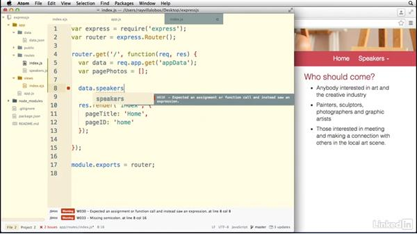 Using conditionals and loops: Building a Website with Node.js and Express.js