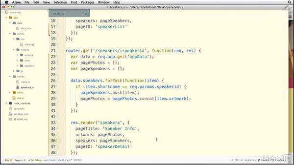 Working with getData() in views: Building a Website with Node.js and Express.js