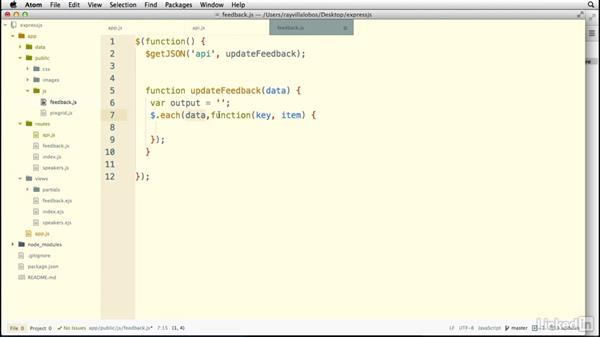 Creating an API route: Building a Website with Node.js and Express.js