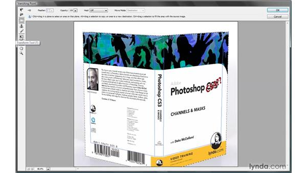 Wrapping art around multiple surfaces: Photoshop CS4 One-on-One: Mastery