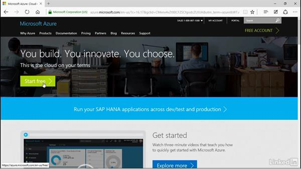 Set up your new Azure account: Microsoft Azure for Developers