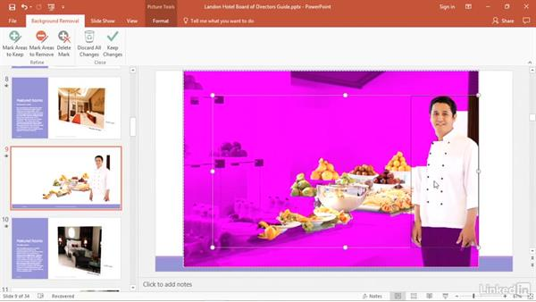 Remove the background from pictures: PowerPoint2016 Tips and Tricks