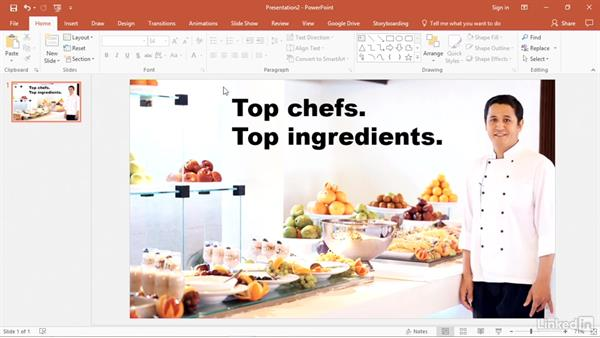 Use the Eyedropper tool to match colors: PowerPoint2016 Tips and Tricks
