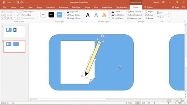Create custom icons using shapes: PowerPoint 2016 Tips and Tricks