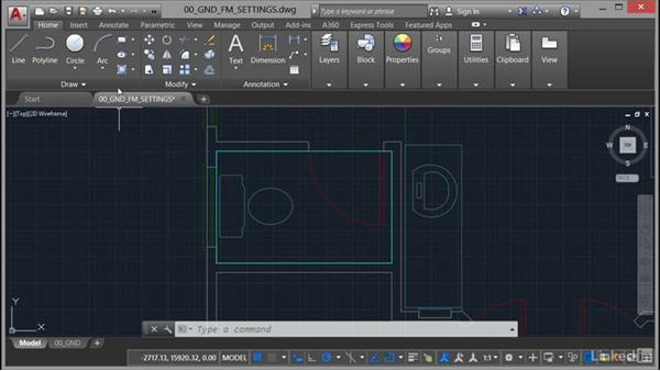 Setting gradient fills: AutoCAD Facilities Management: Areas