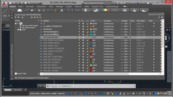 Using a defined polyline layer: AutoCAD Facilities Management: Areas