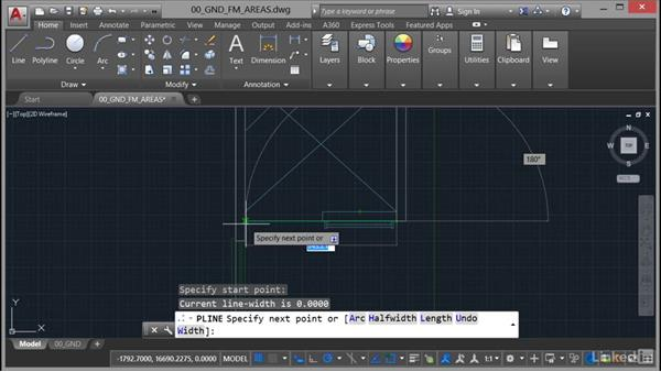 Using object snaps: AutoCAD Facilities Management: Areas